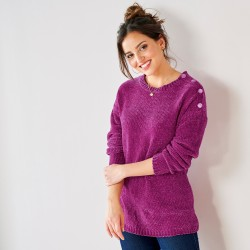 Pull maille chenille