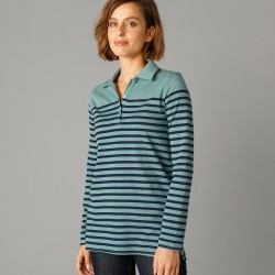 Polo rayé maille jersey
