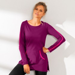 Tee-shirt bicolore manches longues