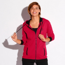 Sweat zippé bicolore