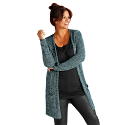 Long gilet maille brillante