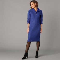 """Robe pull col montant boutons """"bijoux"""""""