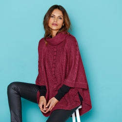Pull poncho col boule