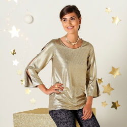 Tee-shirt maille brillante