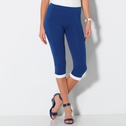 Legging court revers contrasté
