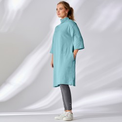 Robe col roulé maille jersey