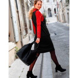 Robe chasuble unie maille milano