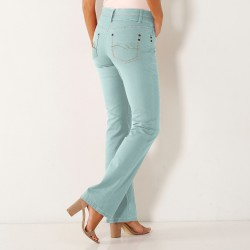 Jean bootcut stretch couleur
