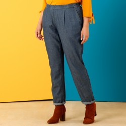 Pantalon chino denim fluide