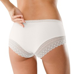Shorty uni incrusté de dentelle - lot de 3