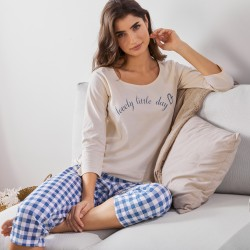 Pantacourt pyjama pompons - Mix and Match*