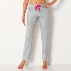 Pantalon pyjama uni pompons - Mix and Match*