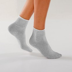 Chaussettes paillettes Lurex® - lot de 2
