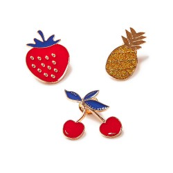 Broche fruit - lot de 3 assorties