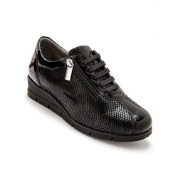 Derbies cuir fantaisie - largeur confort