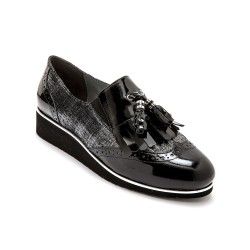 Derbies cuir noir