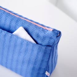 Trousse de toilette zippée, fabrication éco-responsable