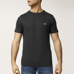 Tee-shirt noir col rond manches courtes