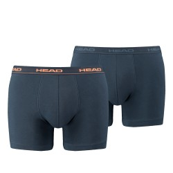 Boxer coton stretch - lot de 2 bleu marine