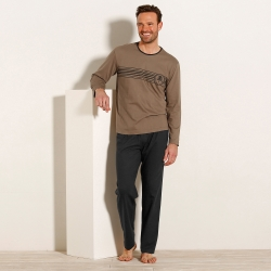 Pyjama jersey coton manches longues