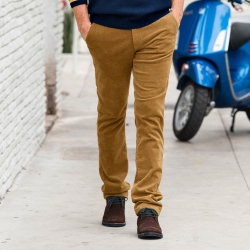 Pantalon chino velours milleraies