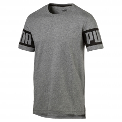 Tee-shirt gris chiné manches courtes Rebel Puma®