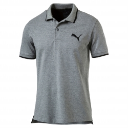 Polo gris chiné maille piquée Active Hero Puma®
