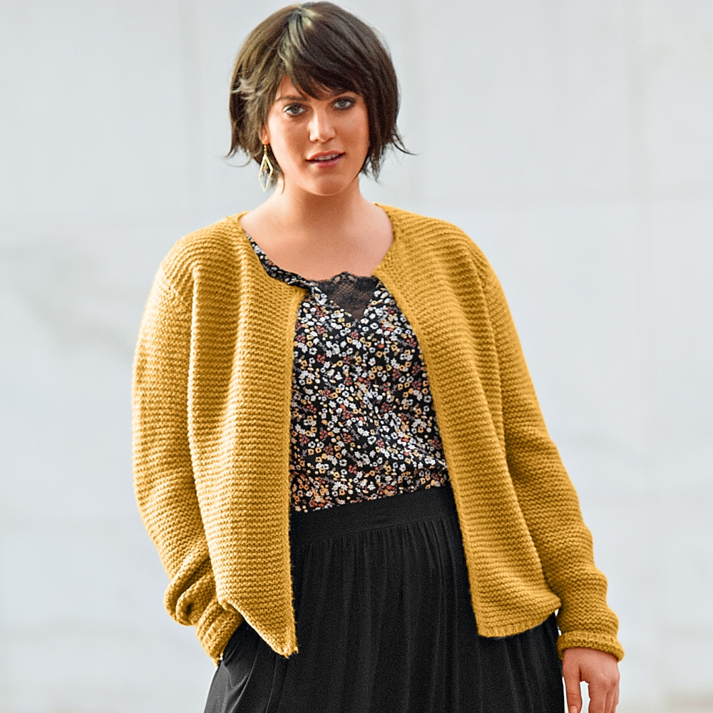 Cardigan style veste maille toucher mohair