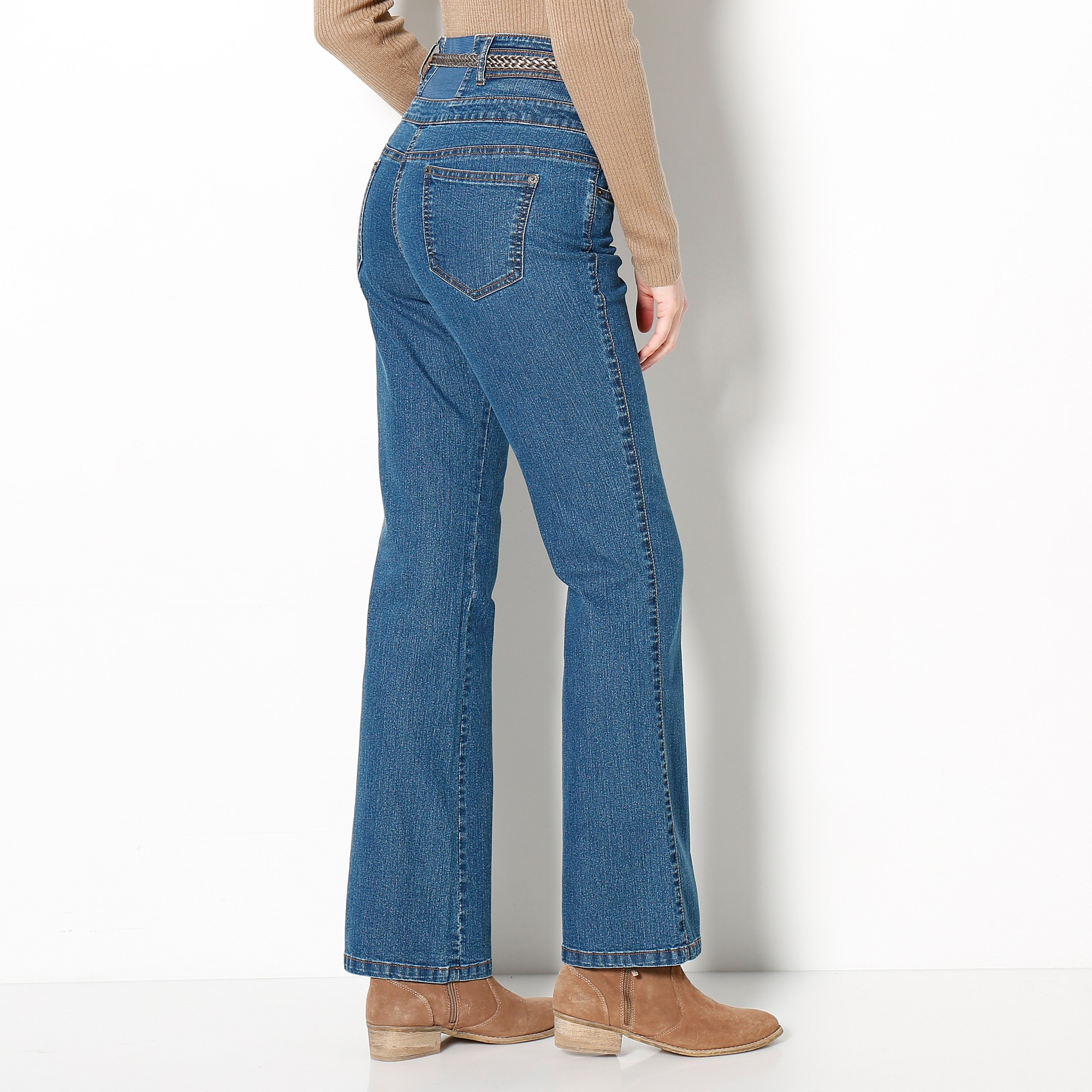 Bootcut Cm Blancheporte Coupe 78 Taille Haute 0xtqswy16 Jean Entrej O77P4n6