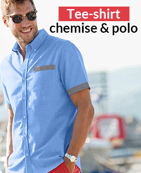 T-shirts, chemises ou polos: shoppez la collection homme