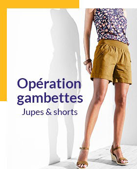Jusqu'à -70%* sur les jupes et shorts