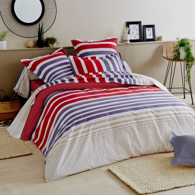 linge de lit stripe pacific percale pur coton blancheporte. Black Bedroom Furniture Sets. Home Design Ideas