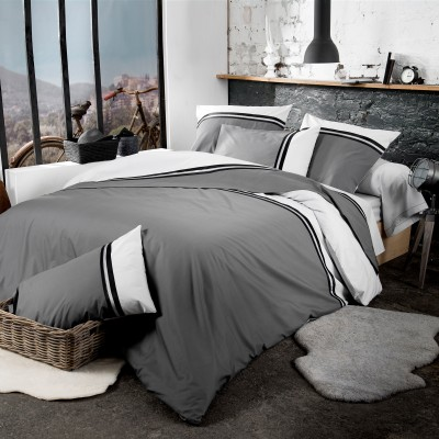 linge de lit smoking percale pur coton blancheporte. Black Bedroom Furniture Sets. Home Design Ideas
