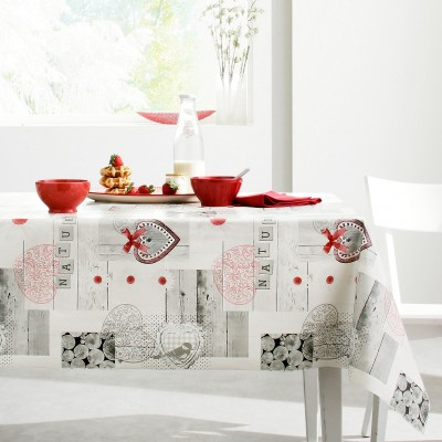 nappe toile cir e imprim e motifs chalet blancheporte. Black Bedroom Furniture Sets. Home Design Ideas