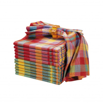 Serviette de table madras - lots - petit prix