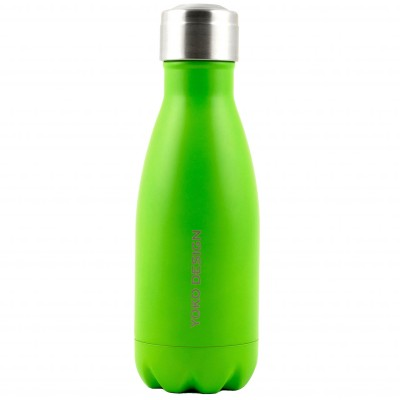 Bouteille Isotherme inox 260 ml vert fluo