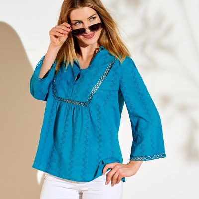 Blouse Broderie anglaise unie