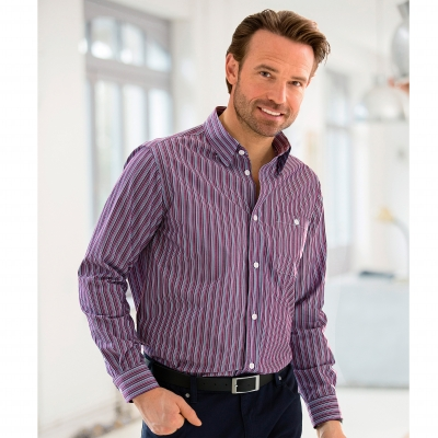 Chemise manches longues rayée  Easy Care®