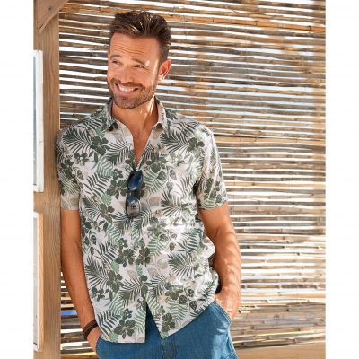 Chemise tropicale manches courtes
