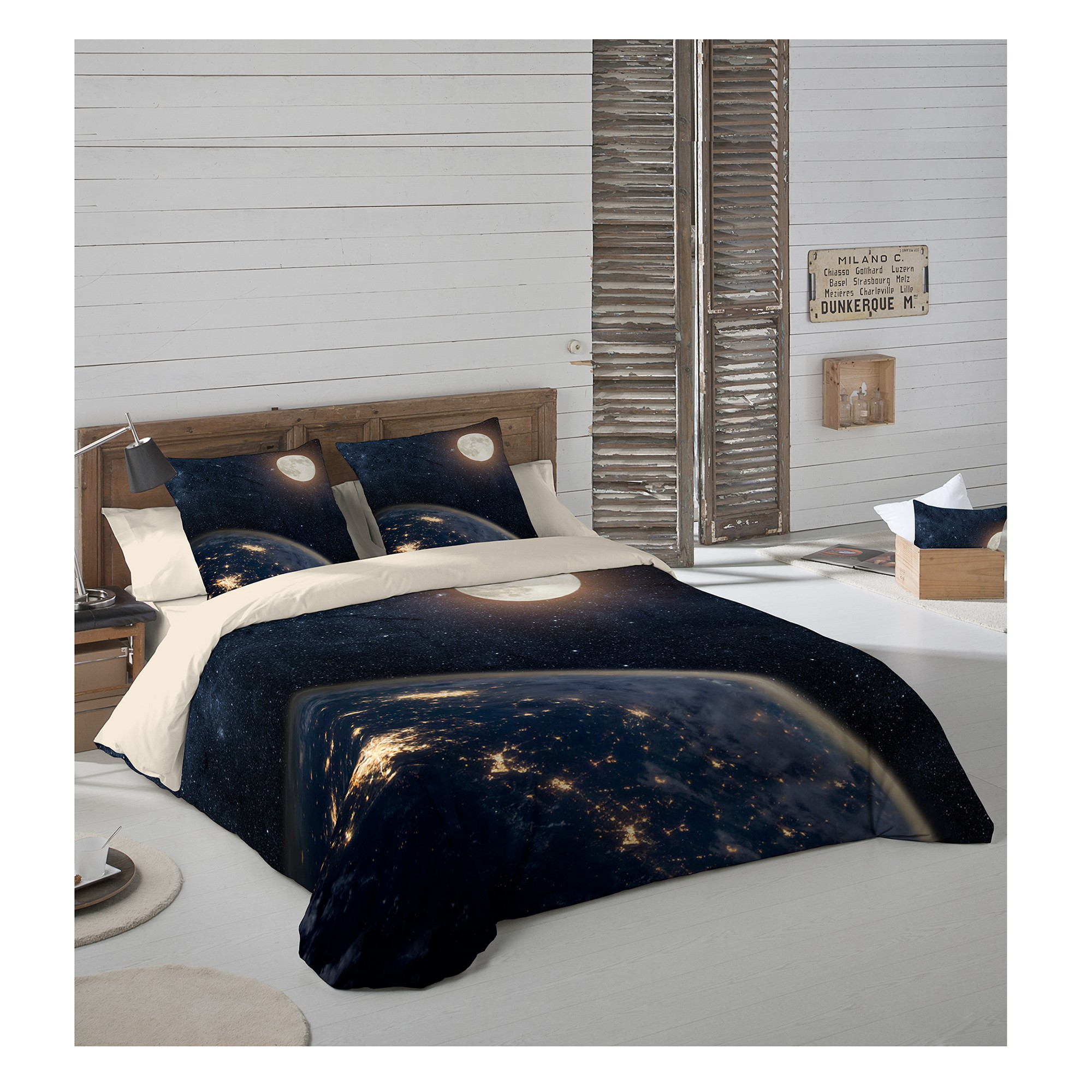 linge de lit univers coton blancheporte. Black Bedroom Furniture Sets. Home Design Ideas