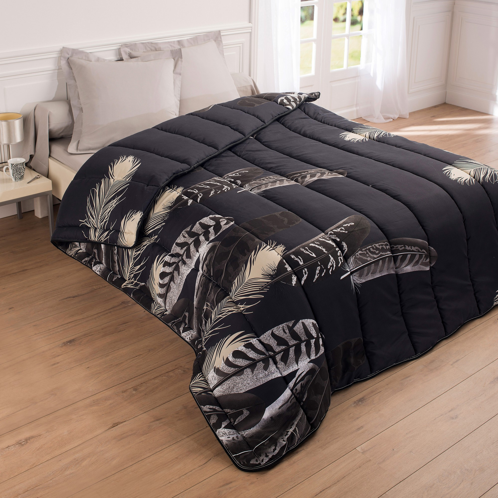 couette microfibre imprim e plumes 400g m2 blancheporte. Black Bedroom Furniture Sets. Home Design Ideas
