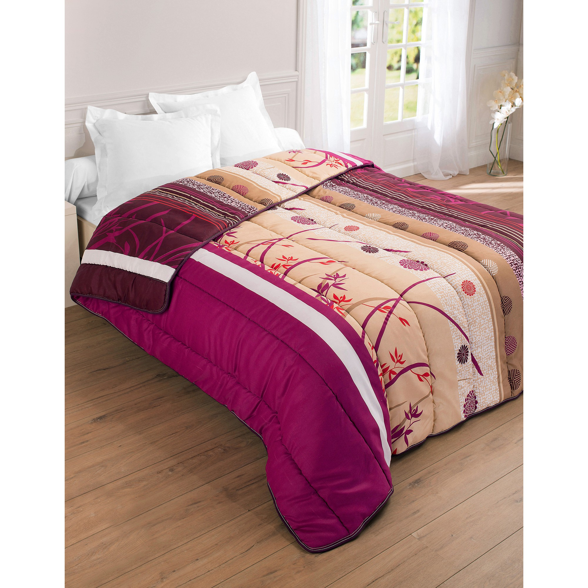 couette microfibre imprim e floral 400g m2 blancheporte. Black Bedroom Furniture Sets. Home Design Ideas