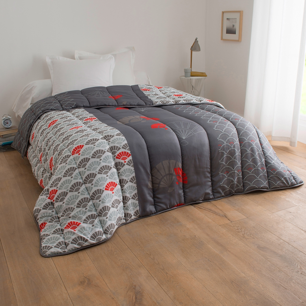 couette microfibre imprim e eventail 400 g m2 blancheporte. Black Bedroom Furniture Sets. Home Design Ideas