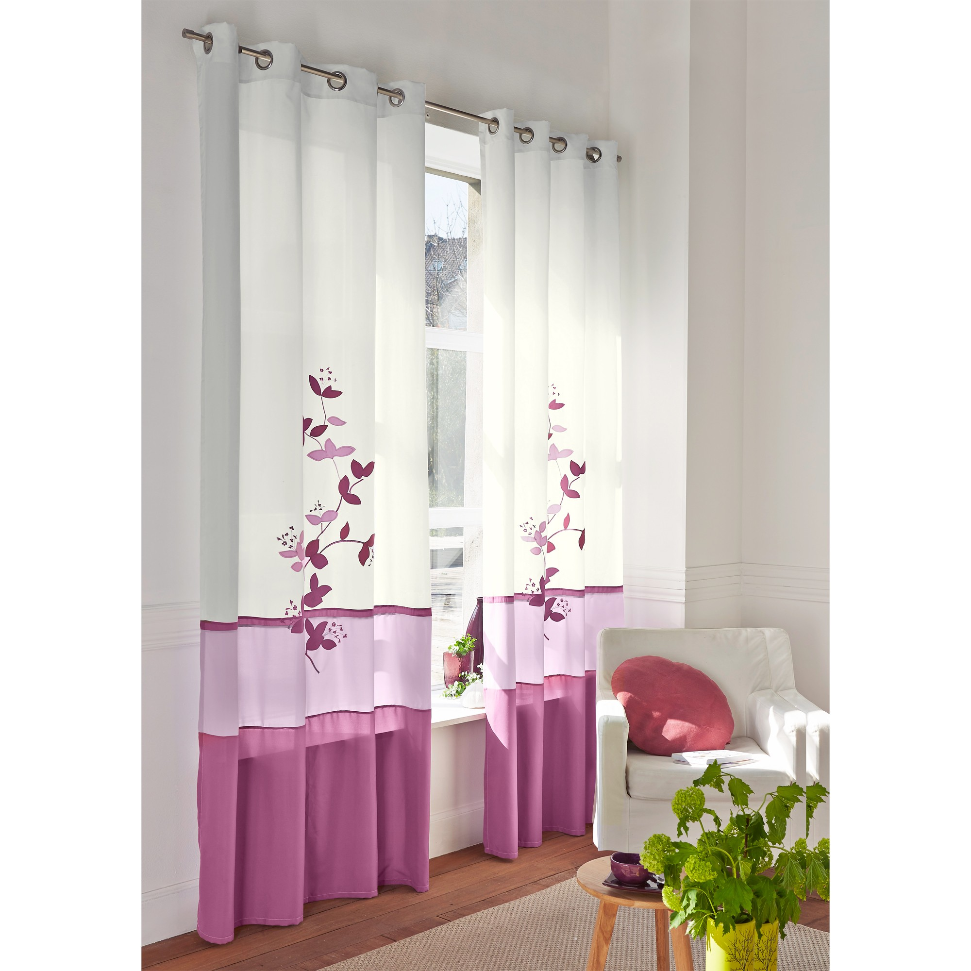panneau voile imprim orchid e blancheporte. Black Bedroom Furniture Sets. Home Design Ideas