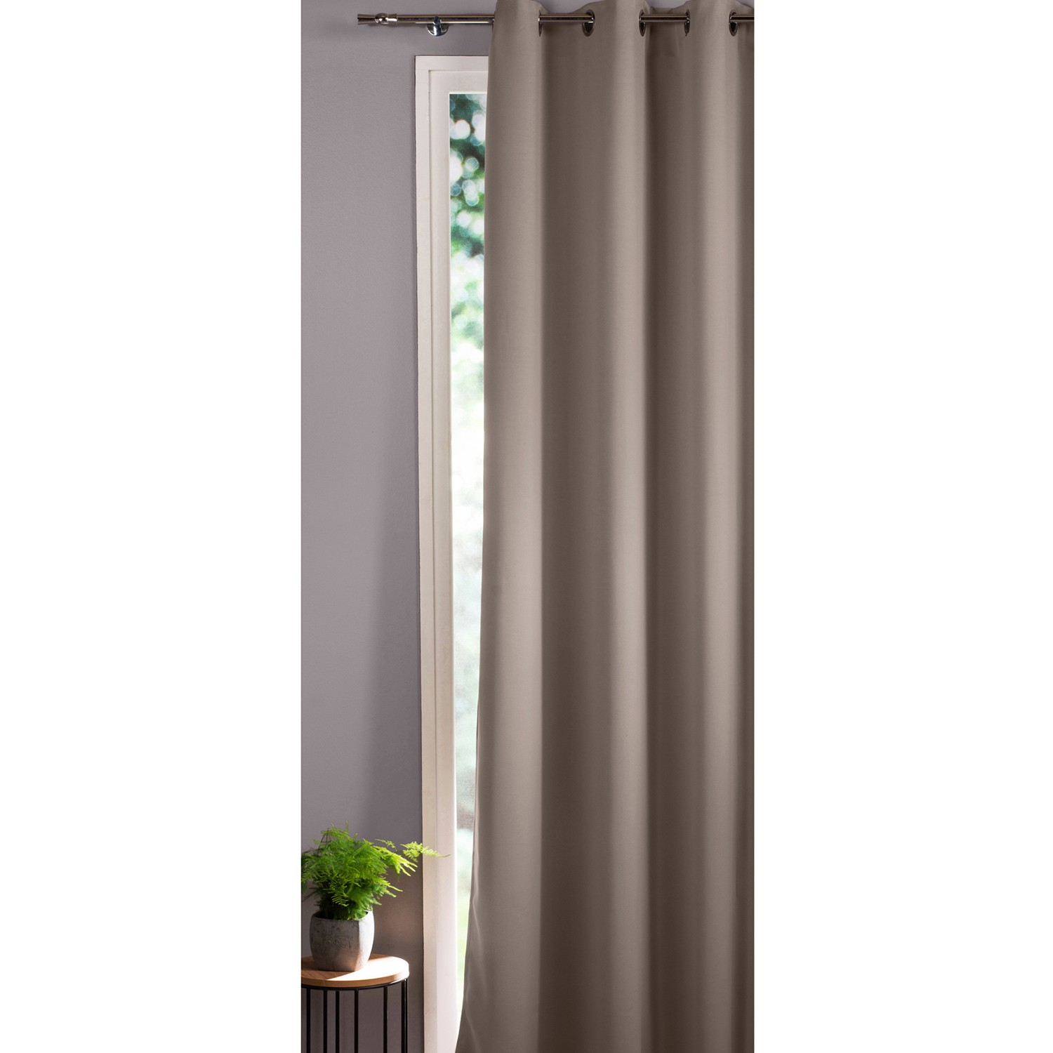 rideaux occultants taupe good rideau nabucco taupe x cm leroy merlin rideau occultant with. Black Bedroom Furniture Sets. Home Design Ideas