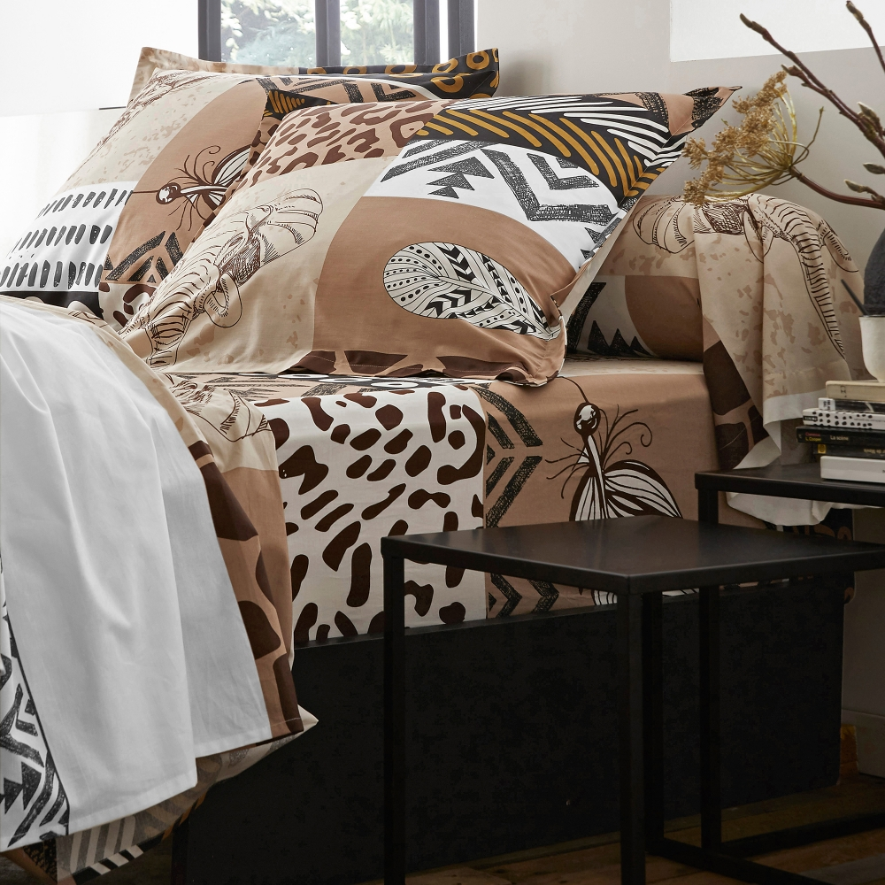 linge de lit savana coton blancheporte. Black Bedroom Furniture Sets. Home Design Ideas