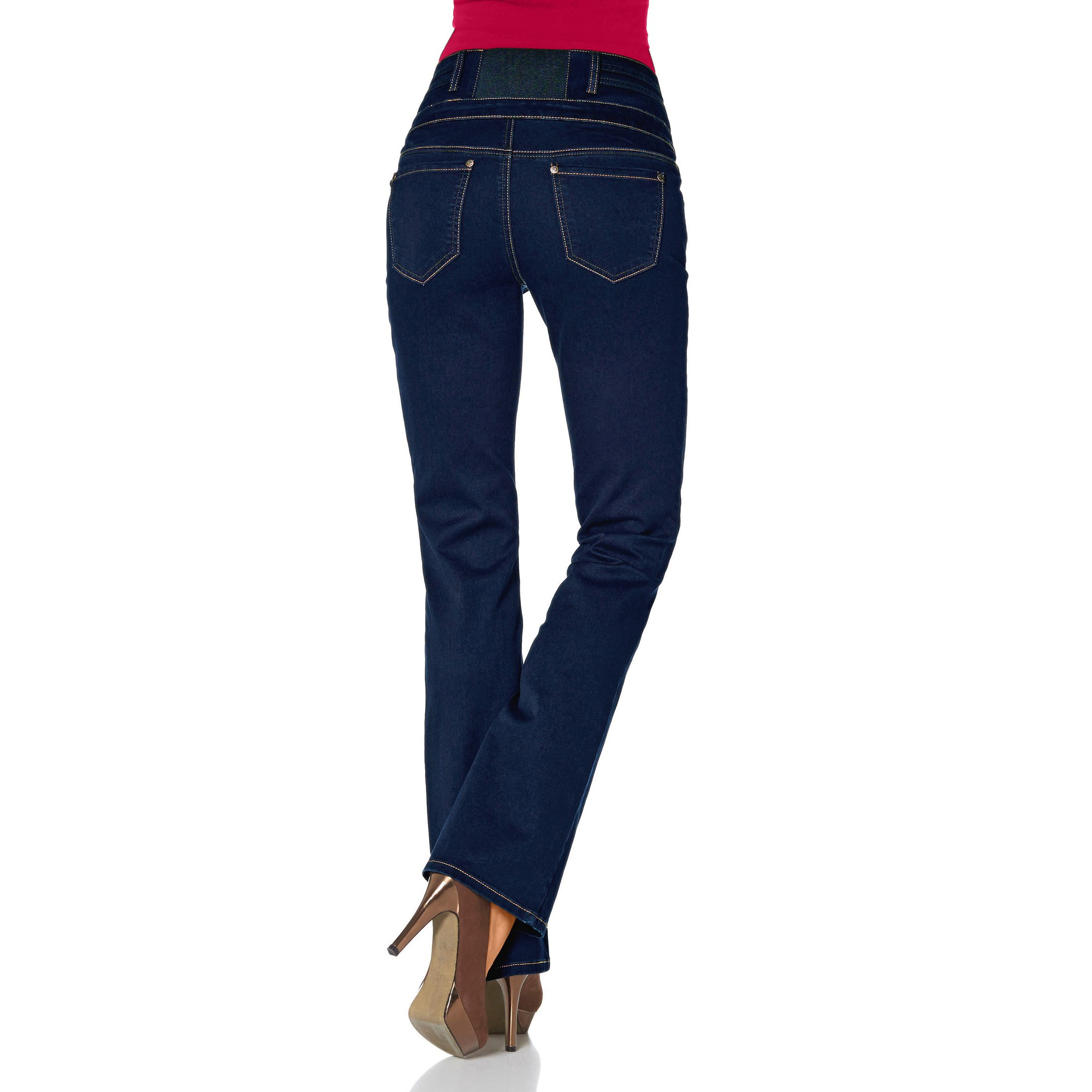 Jean taille haute bootcut petite stature blancheporte for Porte petite taille